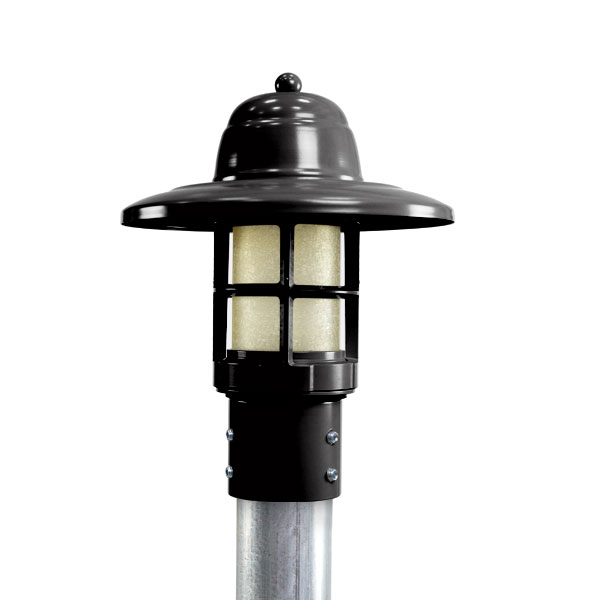 Atomic LED Industrial Guard Post Mount Light